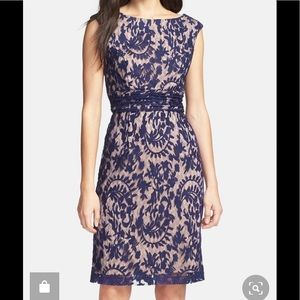 Adrianna Papell Dress Navy Blue